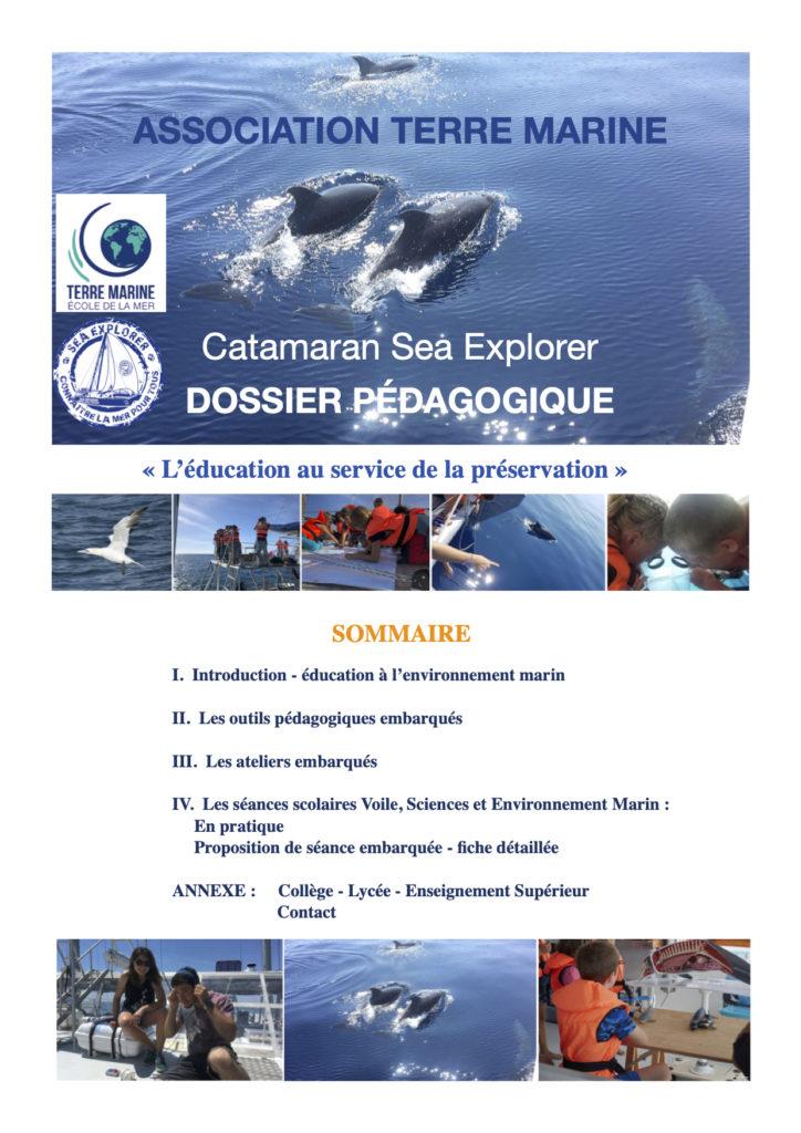 dossier pédagogique - scolaires vie marine dauphin association Terre Marine
